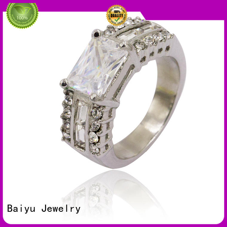 modern womens stainless steel rings fashionable for bridal