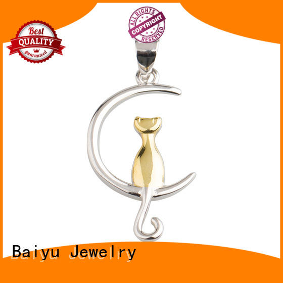 Baiyu Jewelry silver pendants parrot for women