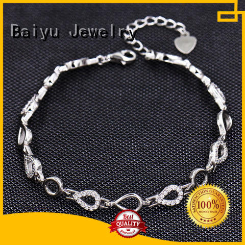 China Manufacturer 925 Sterling Silver Wholesale Bracelet AS00038-L46