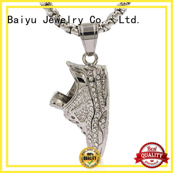 Baiyu Jewelry long linked chin 316 stainless steel chain for wholesale for gift