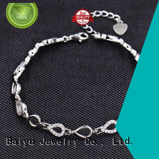 epoxy ladies silver bracelets material plated for women