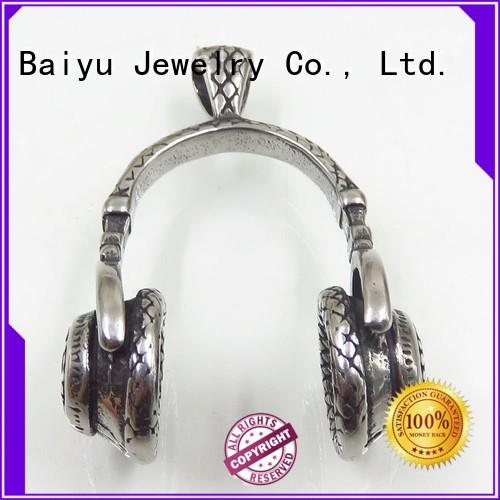 three-dimensional stainless steel pendant heart-shaped for gift Baiyu Jewelry