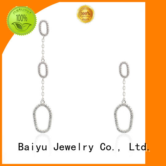 Oval Drop Earring 925 Sterling Silver Simple Style Jusnova Silver AE10141