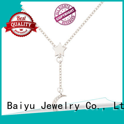 ODM sterling silver necklace with pendant dream styles for mother Baiyu Jewelry
