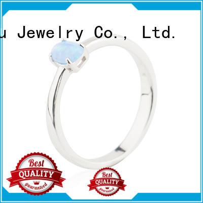 Plain Opal Ring 925 Sterling Silver Stone Jewelry Jusnova Silver