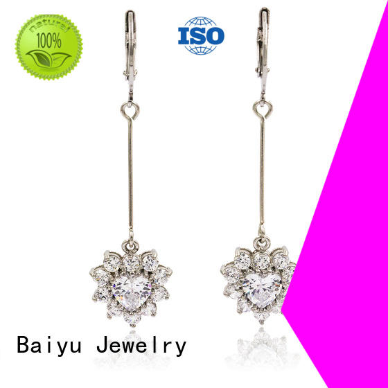Baiyu Jewelry dangle earrings plated for gifts