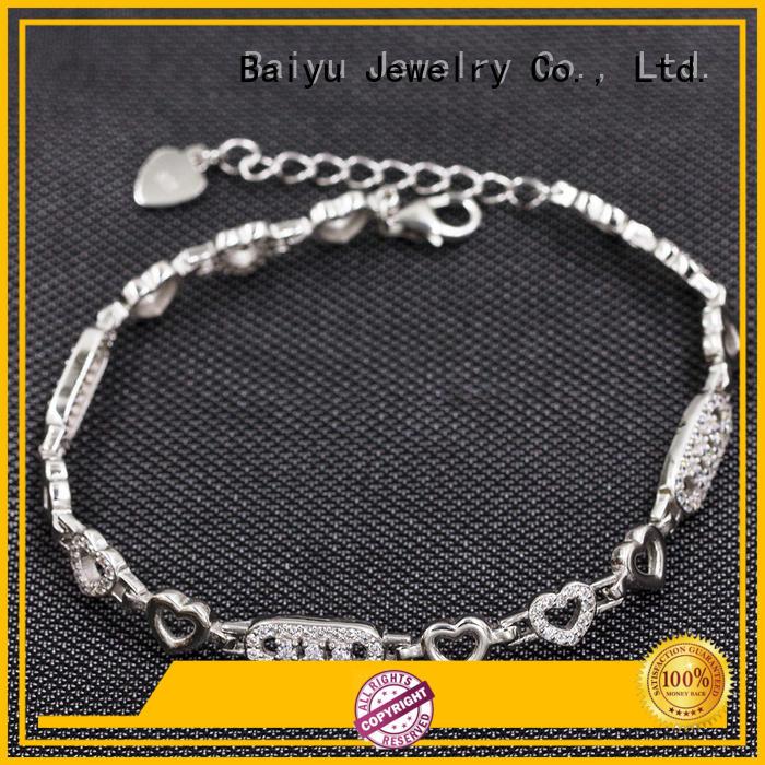 Fashionable 925 Sterling Silver Girls'S Bracelet  AS00037-L46