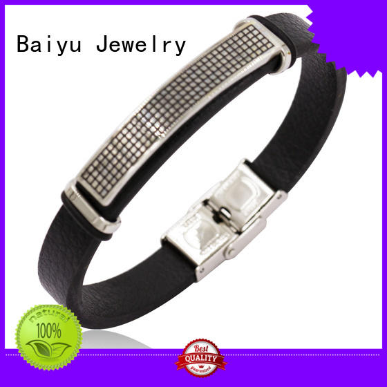 Baiyu Jewelry enamel womens leather bangles on-sale for wholesale